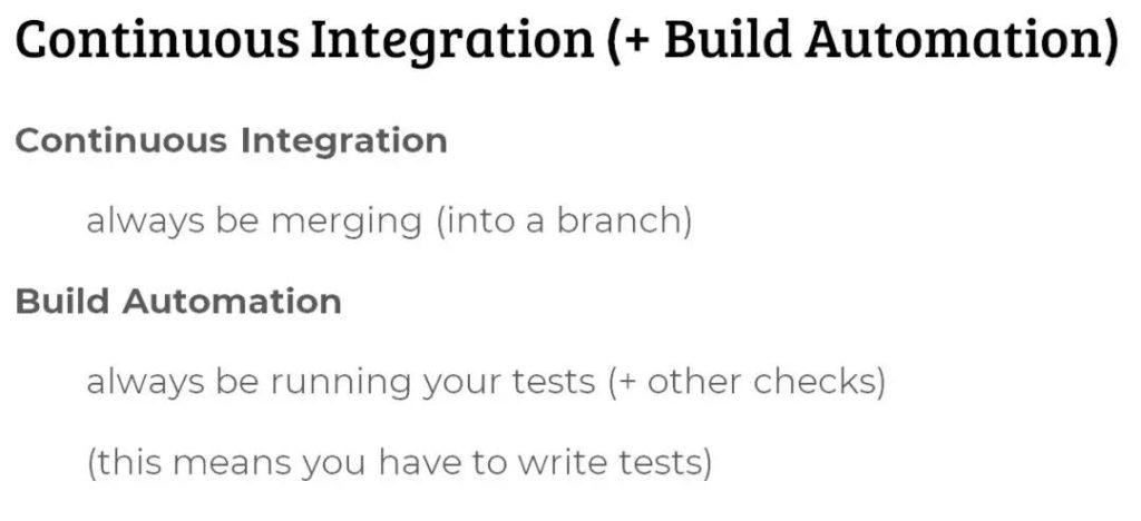 持续整合 以及构建自动化