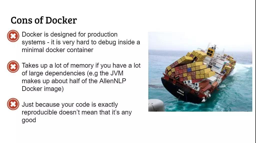 cons of docker